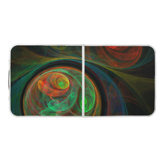 Rebirth Green Abstract Art Pong Table