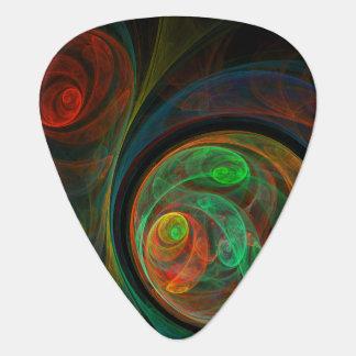 Rebirth Green Abstract Art Standard Guitar Guitar Pick