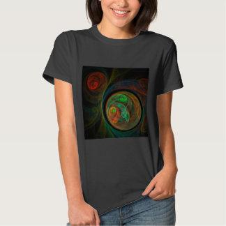 Rebirth Green Abstract Art T-Shirt