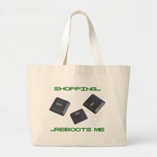 Reboot Computer Keys Jumbo Tote Bag
