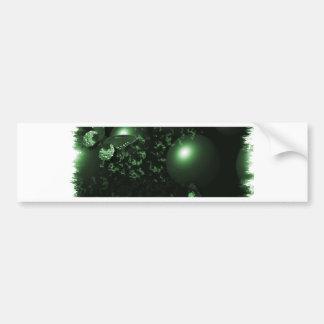 Reborn Butterflies Christian Art Green Car Bumper Sticker