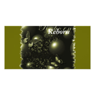 Reborn Christmas Green Bookmarker Picture Card
