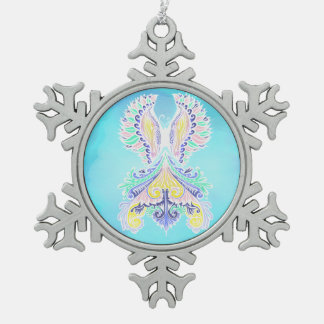 Reborn - Light, bohemian, spirituality  Pattern by Snowflake Pewter Christmas Ornament