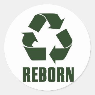 Reborn Round Stickers