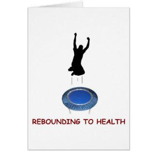 Rebounding (male) greeting card