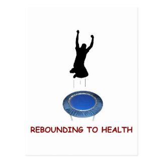 Rebounding (male) postcard