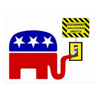 Rebuplican Government Shutdown 2011 Postcard
