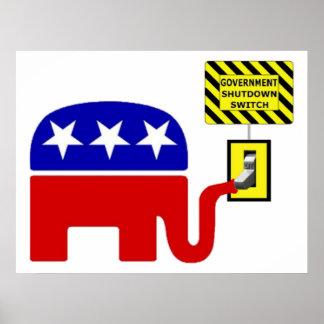 Rebuplican Government Shutdown 2011 Poster