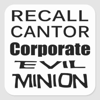Recall Eric Cantor Koch Oil s Lap Dog Stickers