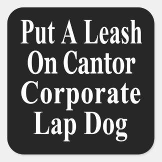 Recall Eric Cantor Koch Oil s Lap Dog Sticker
