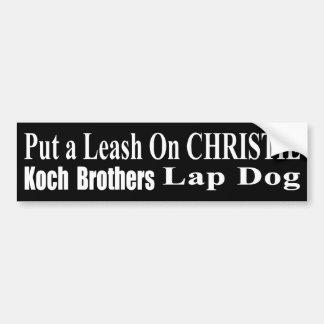 Recall Governor Chris Christie Koch Oil's Minion Bumper Sticker