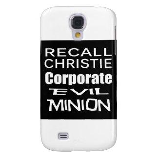Recall Governor Chris Christie Koch Oil's Minion Samsung Galaxy S4 Case
