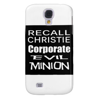 Recall Governor Chris Christie Koch Oil's Minion Galaxy S4 Case