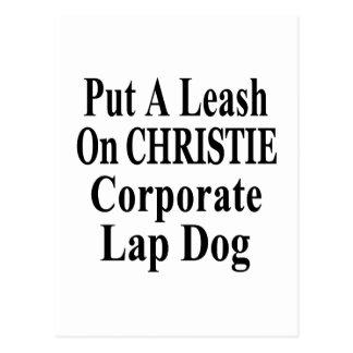 Recall Governor Chris Christie Koch Oil's Minion Postcards
