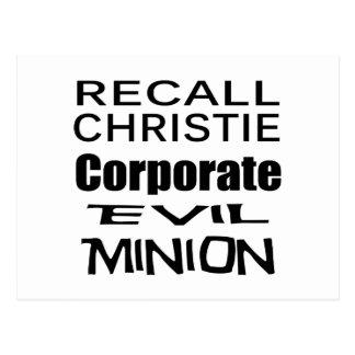 Recall Governor Chris Christie Koch Oil's Minion Postcard