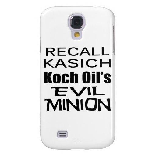 Recall Governor John Kasich Koch Oil's Minion Galaxy S4 Cases