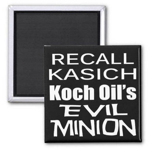 Recall Governor John Kasich Koch Oil's Minion Refrigerator Magnets