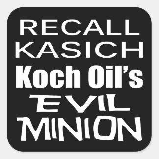 Recall Governor John Kasich Koch Oil's Minion Square Sticker