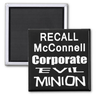 Recall Governor Mitch McConnell Koch Oil's Minion Square Magnet