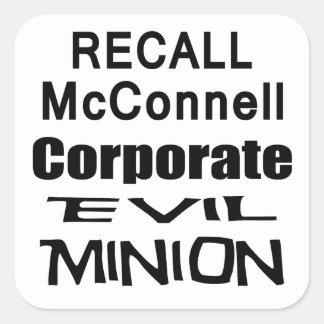 Recall Governor Mitch McConnell Koch Oil's Minion Sticker