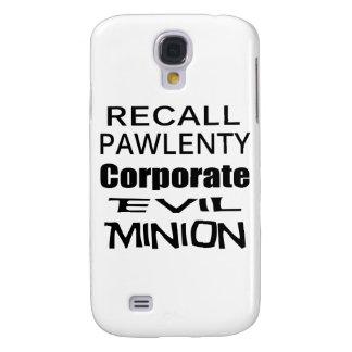 Recall Governor Pawlenty Koch Oil s Evil Minion Samsung Galaxy S4 Cases