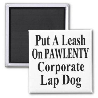 Recall Governor Pawlenty Koch Oil's  Evil Minion Square Magnet