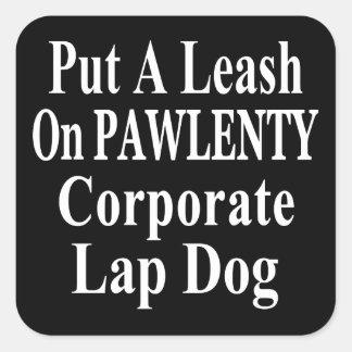 Recall Governor Pawlenty Koch Oil's  Evil Minion Square Sticker