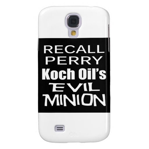 Recall Governor Rick Perry Koch Oil's Evil Minion Samsung Galaxy S4 Cases