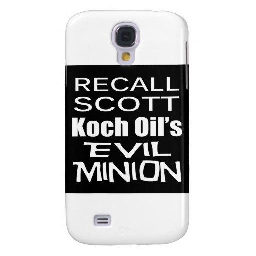Recall Governor Rick Scott Koch Oil's Evil Minion Galaxy S4 Case