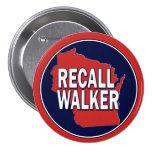 Recall Governor Scott Walker 7.5 Cm Round Badge