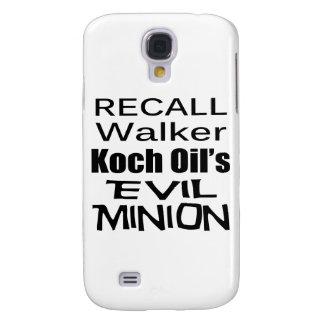Recall Governor Scott Walker Corporate Evil Minion Samsung Galaxy S4 Cover