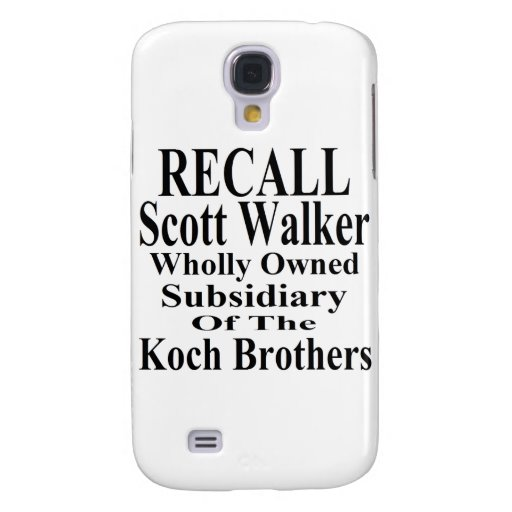 Recall Governor Scott Walker Corporate Minion Galaxy S4 Case