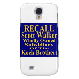 Recall Governor Scott Walker Corporate Minion Galaxy S4 Case