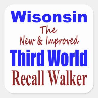 Recall Governor Scott Walker Corporate Minion Stickers