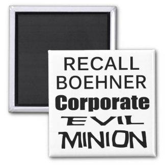 Recall John Boehner Koch Oil's Lap Dog Square Magnet