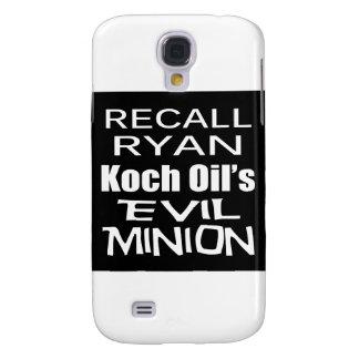 Recall Paul Ryan Koch Oil s Evil Minion Galaxy S4 Case