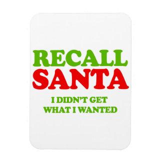 Recall Santa -- Holiday Humor Vinyl Magnets