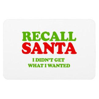 Recall Santa -- Holiday Humor Rectangular Magnets