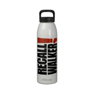 Recall Scott Walker! Drinking Bottles