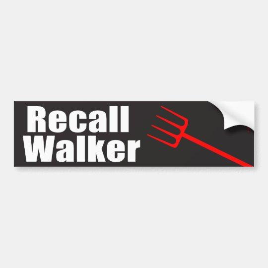 Recall Walker Bumper Sticker