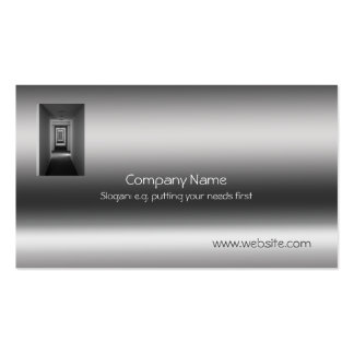Receding Corridor Metallic-look template Pack Of Standard Business Cards