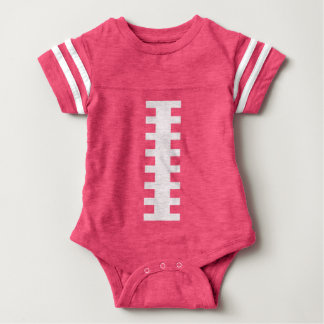 RECEIVE ME• Football Baby Pink+White | Back Jersey Tshirt