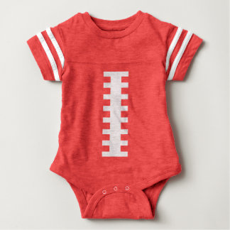 RECEIVE ME• Football Baby Red+White | Back Jersey Baby Bodysuit