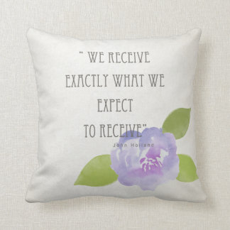 RECEIVE WHAT WE EXPECT TO RECEIVE PURPLE FLORAL CUSHION