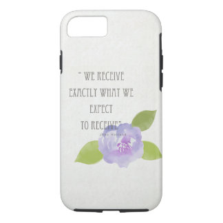 RECEIVE WHAT WE EXPECT TO RECEIVE PURPLE FLORAL iPhone 8/7 CASE