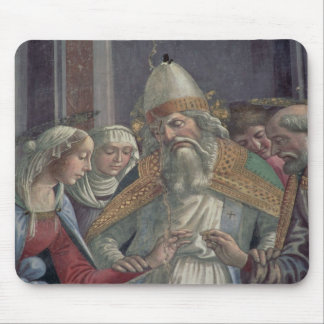 Receiving the Ring, from the Marriage of the Virgi Mouse Pad
