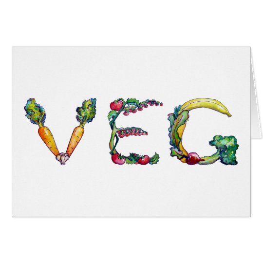 Recent Vegetarian or Vegan Greeting Card