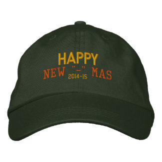 """Recentered Happy New """"-"""" Mas Hat Embroidered Hats"""