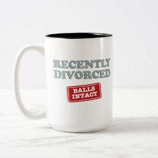 Recently Divorced, Balls Intact Two-Tone Mug