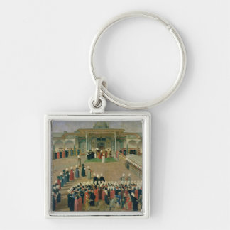 Reception at the Court of Sultan Selim III Key Ring